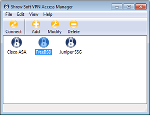 Vpn access manager command line